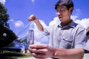 Making plastic more transparent while also adding electrical conductivity